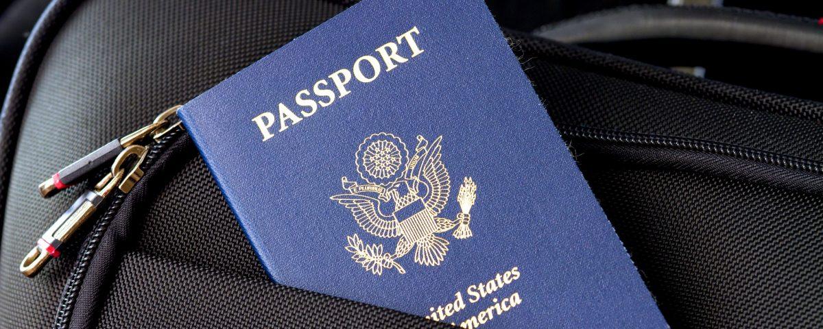 passport in travel bag
