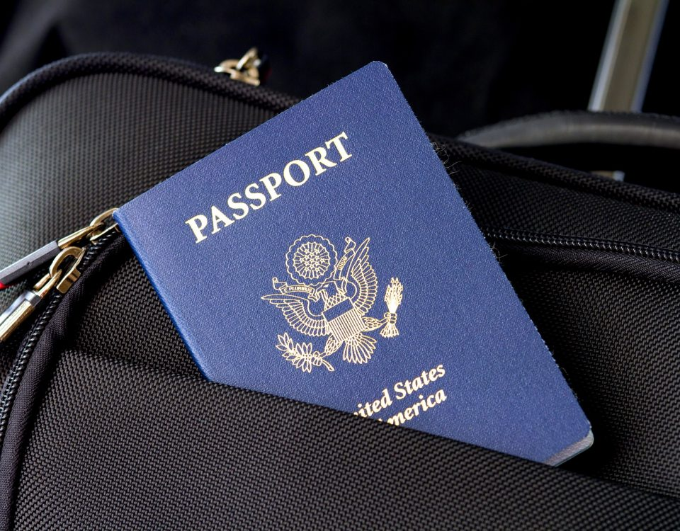 passport in travel bag